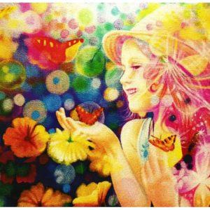 """Postkarte """"Das Glück Ist Eine Seifenblase"""""""